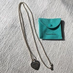 Tiffany & co dog tag sterling silver necklace